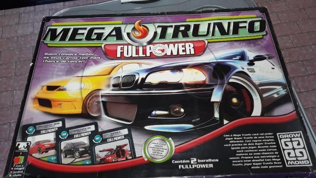 Lote 28 Com Jogo Mega Trunfo de Carros da Grow + Lousa e apagador para anotar o Placar!!!