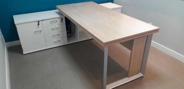 Mesa e Armário para Escritório - Foto 2