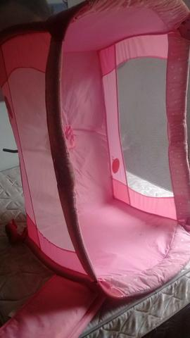Berço desmontável rosa - Foto 3