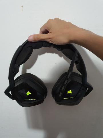 Headset corsair void rgb wireless 7.1 veja a descrição