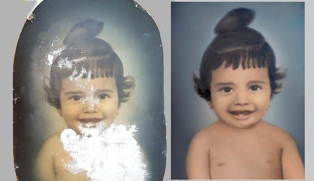 Restauramos fotos estragadas pelo tempo
