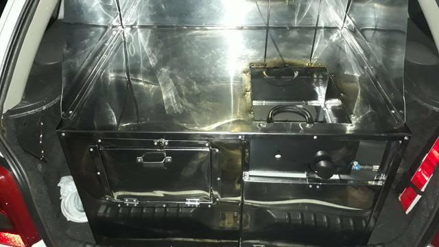 Kit fritadeira para veículo e comercio