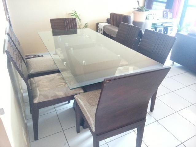 Mesa em madeira. Beleza e sofisticação. Urgente.R$ 600 tel. - Foto 3