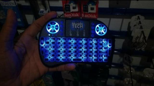 Mini Teclado com Led Air Mouse Touch - Foto 2