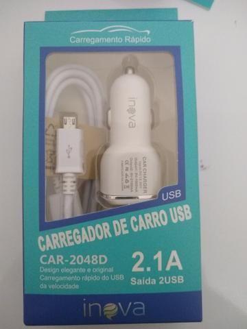 Carregador Veicular Inova 2.1A