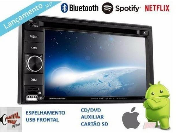 Multimídia Evolve Light, Espelha Androide! 499,99 À Vista ou 12x 50,00 Instalado Canal Som