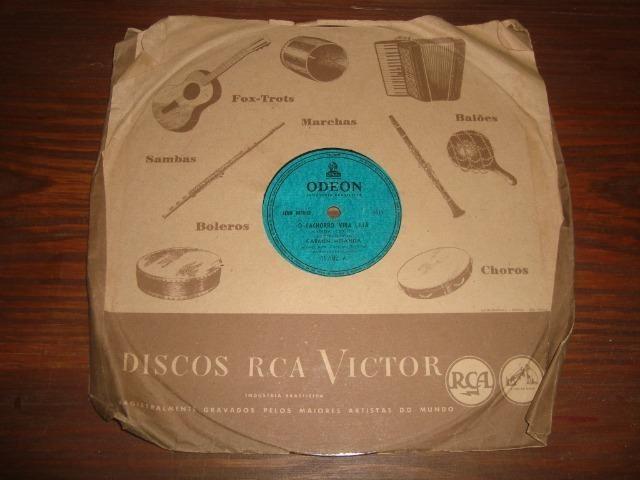 Carmem Miranda, Preço para Lote com 5 discos 78 rpm de 10 pol - Foto 5