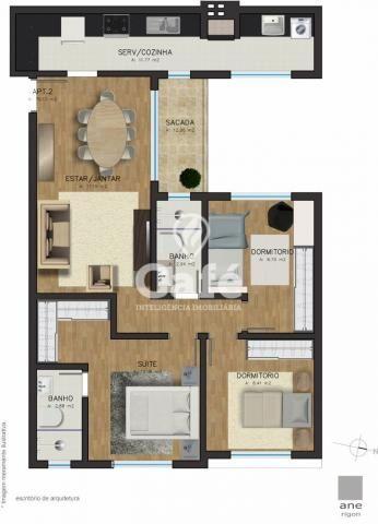 Apartamento à venda com 3 dormitórios em Centro, Santa maria cod:0779 - Foto 3
