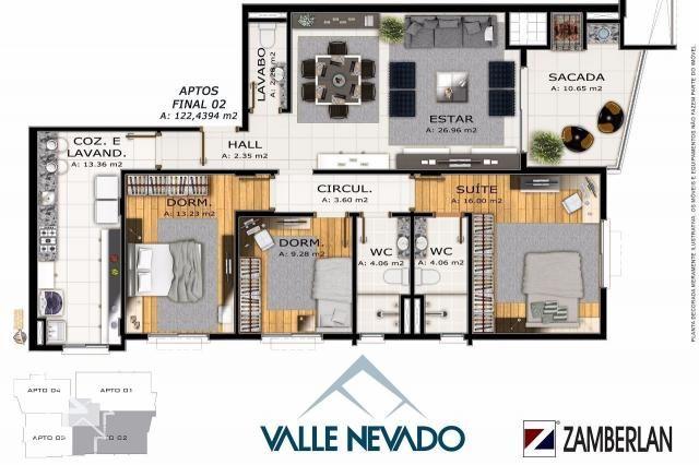 Apartamento à venda com 3 dormitórios em Nossa senhora de lourdes, Santa maria cod:10052 - Foto 3