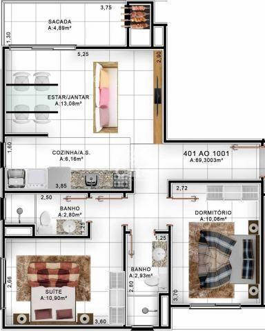 Apartamento de 2 dormitórios com suite e garagem no Centro de Santa Maria - Foto 9