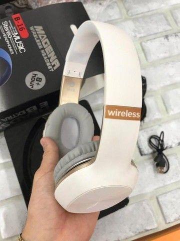 Fone Headset Music Stereo Wireless Fone De Ouvido Magena B16 - Foto 3