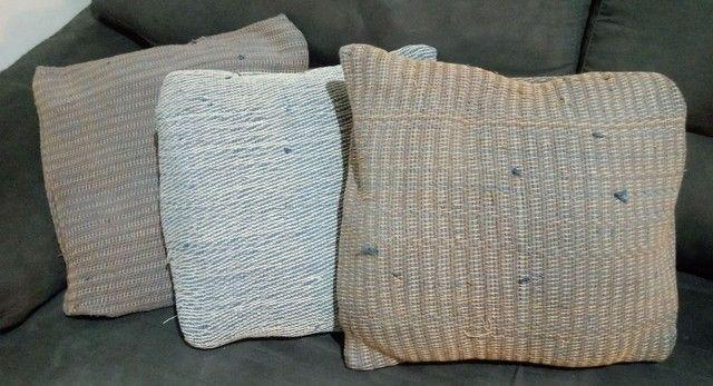 Lindo jogo de almofodas em tapeçaria