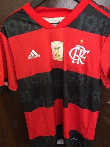 Camiseta Flamengo 20/21 - Patch Campeão Brasileiro