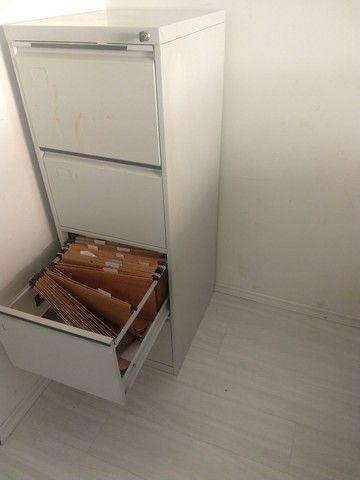 Arquivo de aço 4 gavetas com chave