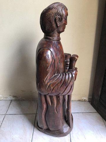 Imagem Sacra Padre Cícero Madeira Maciça grande em Fortaleza - Foto 3