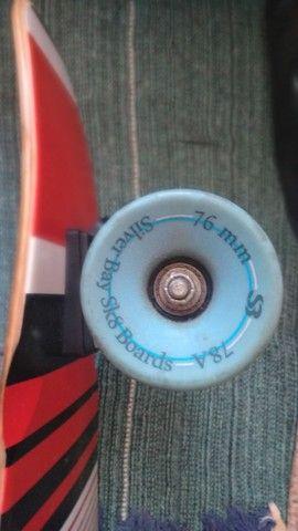 Skate Longboard semi novo - Foto 2