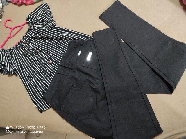 Calça preta 42 - Foto 2