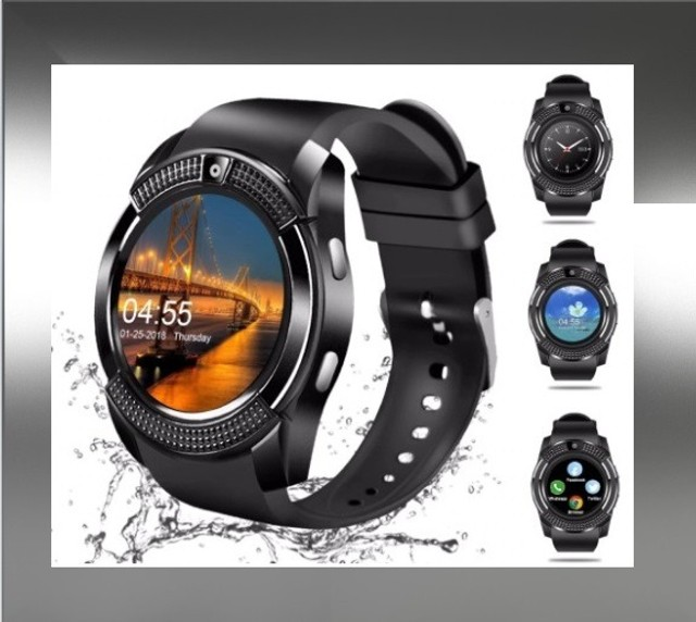 Relógio Style e Tecnologia Smart V8 Preto Funções Celular Smartphone - Foto 3