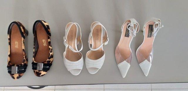 Lote de sapatos femininos 36/37 semi novos  - Foto 5