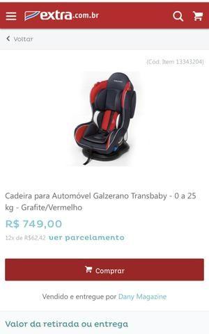 Cadeirinha para automóvel, GALZERANO MUST para crianças de 0 a 25kg!