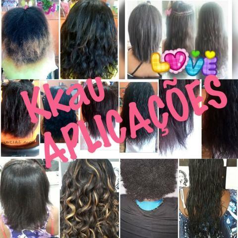 Aplicações de mega hair