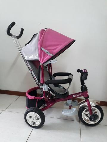Triciclo Importado Premium 3 em 1: Carrinho de passeio, Triciclo e Bicicleta eBaby - Foto 2