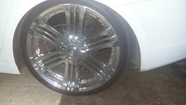 Vendo rodas aro 20.pneus 225/35.pneus todos novos - Foto 5