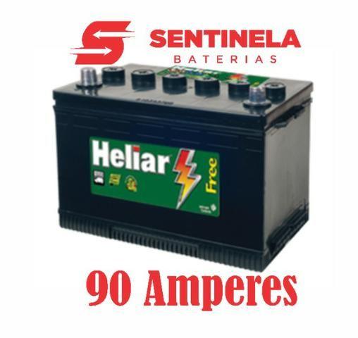 Bateria Heliar 90 Amperes com 18 meses de garantia