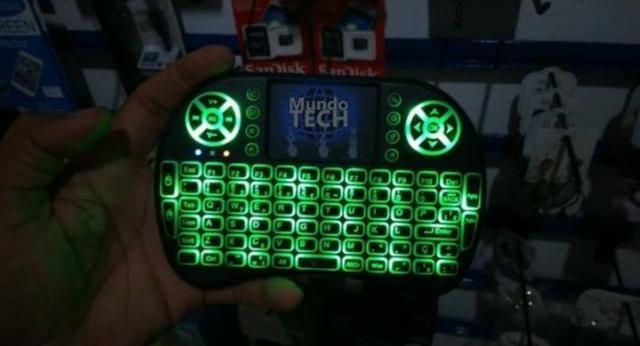 Mini Teclado com Led Air Mouse Touch - Foto 4