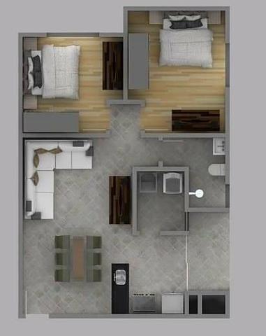 Alugo apartamento 2 quartos 1 vaga de garagem 63m centro - Foto 2