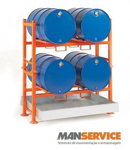 Rack para armazenamento de tambores 200l
