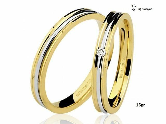 Aliança de casamento, em ouro 18k, em até 12x no Cartão Premium!! - Foto 2