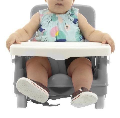 Cadeira De Alimentação Portátil Cosco, Nova e Lacrada, Cinza ou Rosa, cadeirinha refeição