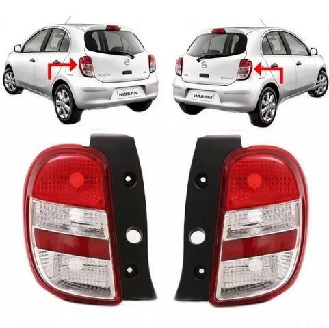 Par Lanterna Traseira Nissan March 2011 2012 2013