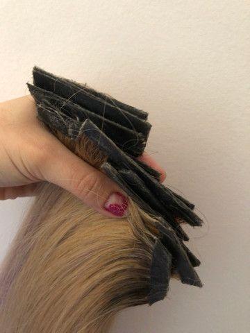 Mega Hair Fita - Cabelo brasileiro com merchas loiras - Foto 6