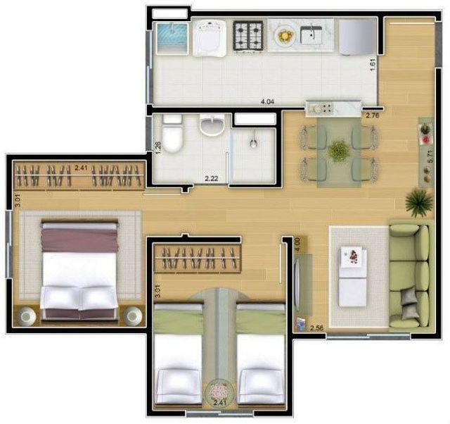 Vendo com tudo Dentro, Apartamento Pq do Carmo, 14o andar, 2 dorm - Foto 5