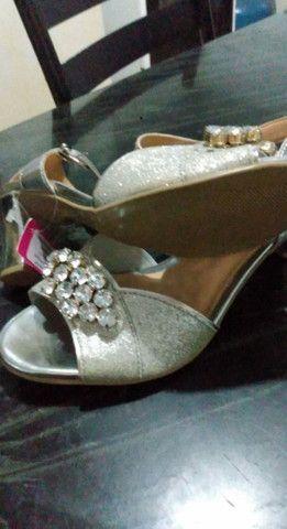 sandália prata - Foto 2
