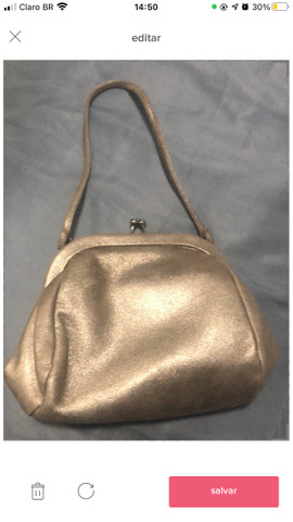 Bolsa de mão prateada - Foto 3