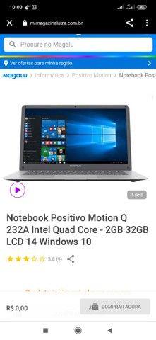 Notebook Positivo Motion Q 232A Intel Quad Core 2GB 32GB LCD 14 Windows 10 - Foto 6