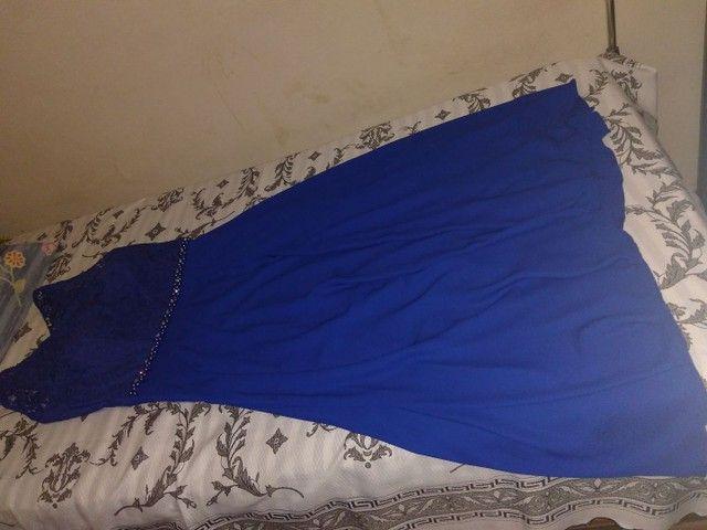 Vestido longo Azul de festa - Foto 2