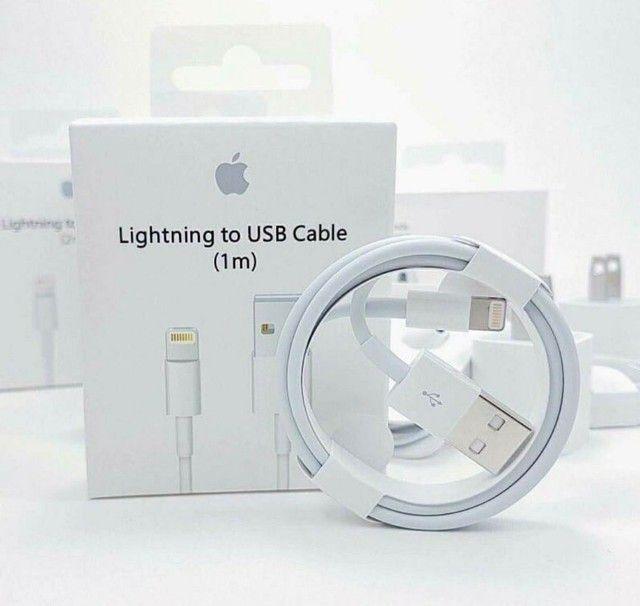 (Promoção) Cabo Usb Carregador iPhone 5 6 7 8 Plus S X Xr Xs 11 11pro 12 (1 metro) - Foto 2