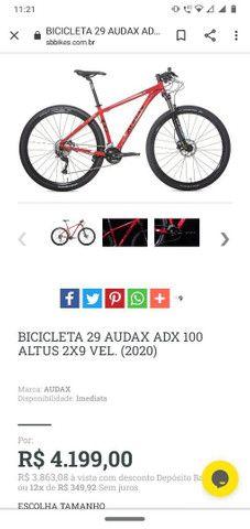 Bicicleta 29 Audax adx 100( Estado de nova) - Foto 3