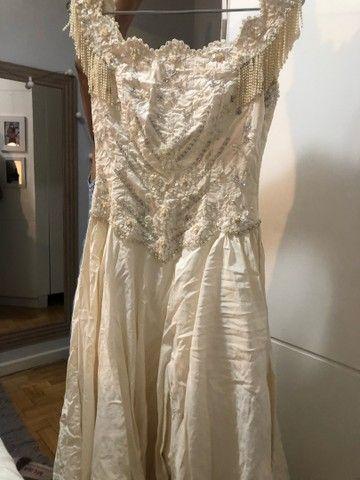 Vestido de debut / noiva bordado off white / perolado - Foto 2