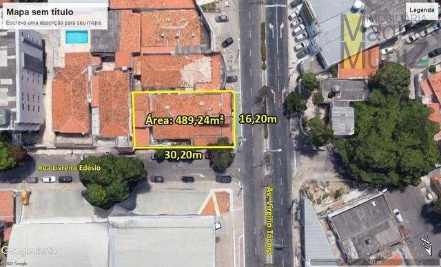 Terreno na Av. Senador Virgílio Távora à venda, 489 m² por R$ 2.750.000 - Dionisio Torres