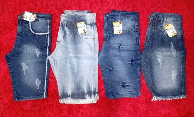 Bermuda jeans atacado - Foto 2