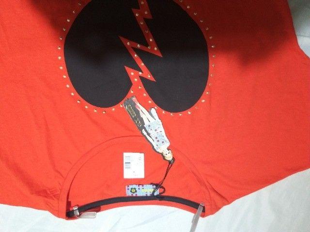 blusinha tipo clopped  algodão  Marisa    Nº  M  e G vermelha  - Foto 2