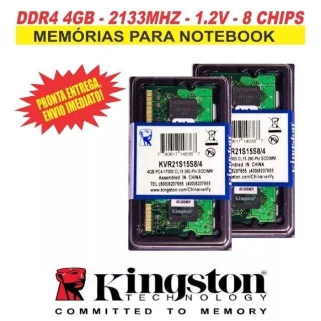 Memória Kingston Ddr4 4gb Notebook