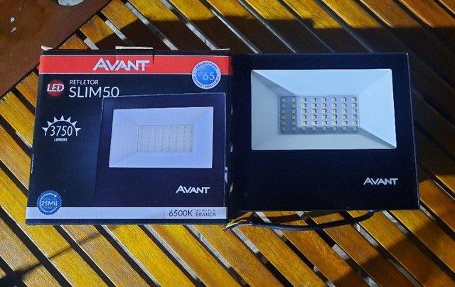 Refletor Slim avant 50w - novo na caixa - Foto 2