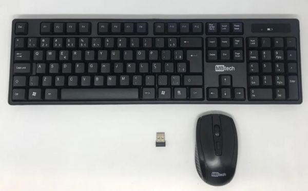 Kit teclado e mouse Wireless sem fio Computador ou notebook - Foto 2