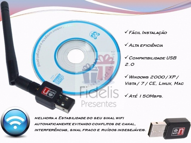 Adaptador Receptor Wireless Usb Wifi 600mbps Pc Notebook  - Foto 3